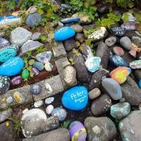 West coast painted rocks