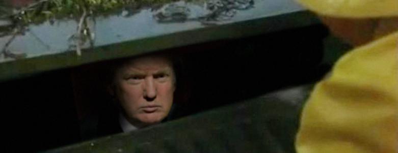 Trump in storm drain