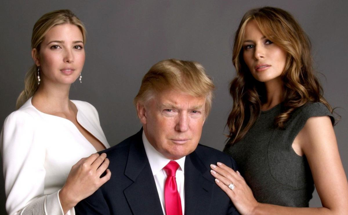 Trump with wife and daughter #2